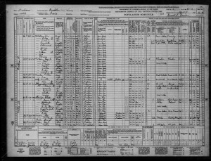 1940 Census Brookston Indiana
